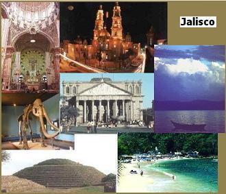 Algunos Lugares Turísticos Atractivos del Estado de Jalisco